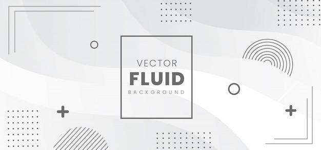 Bannière Fluide Abstraite Moderne Vecteur Premium