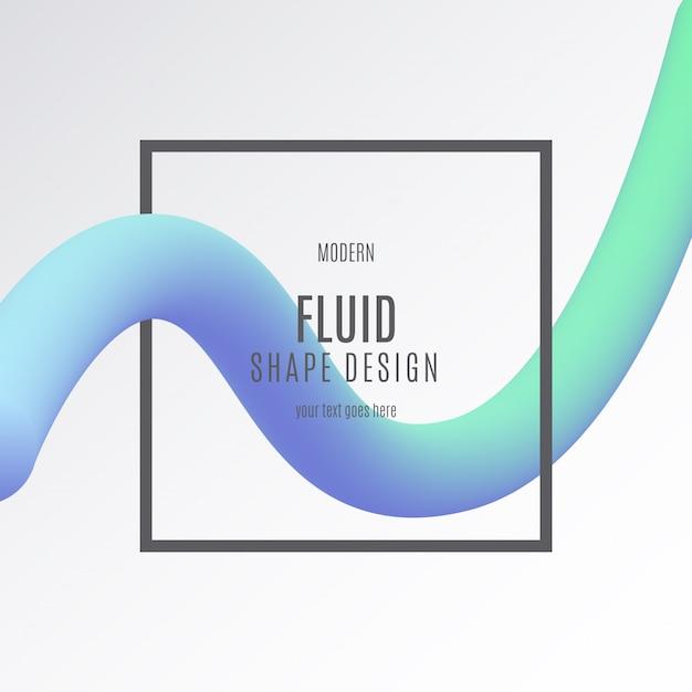 Bannière de forme fluide Vecteur gratuit