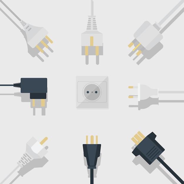 Bannière de fournitures électriques Vecteur Premium
