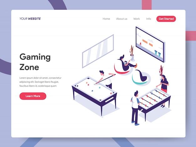 Bannière gaming zone concept pour page web Vecteur Premium