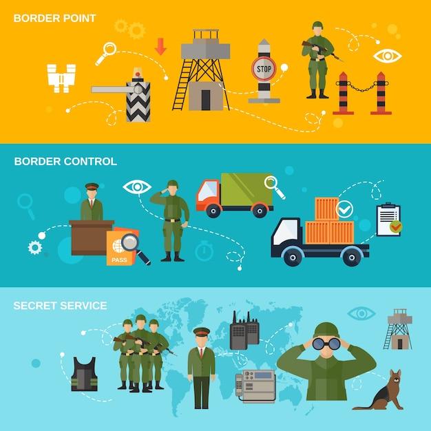 Bannière de la garde-frontière Vecteur gratuit