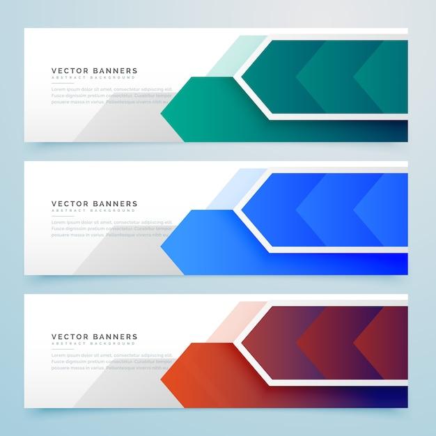Bannière Géométrique En Flèche Abstraite Vecteur gratuit
