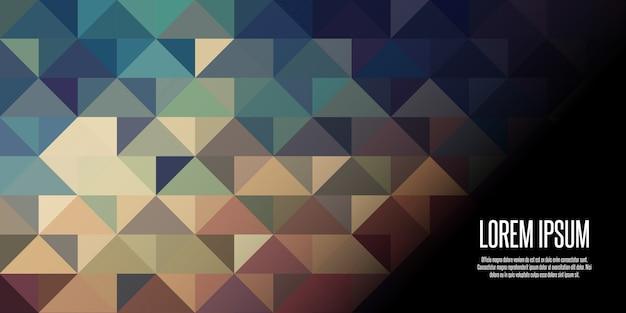 Bannière géométrique low poly Vecteur gratuit