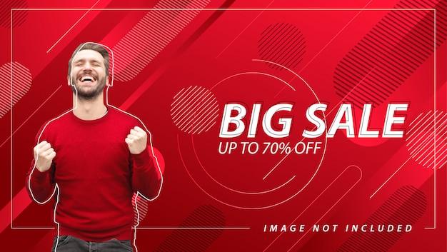 Bannière grande vente avec fond abstrait Vecteur Premium