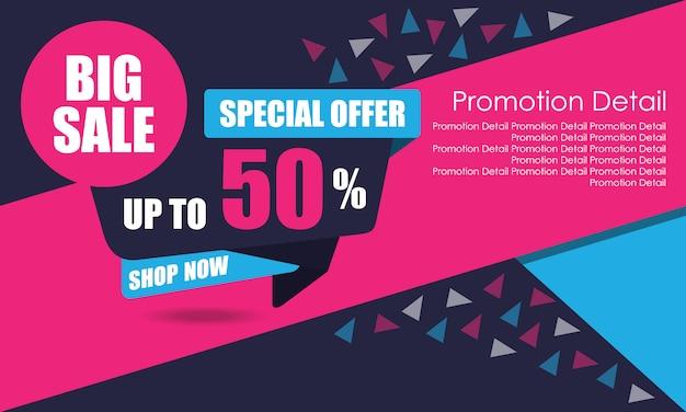 Bannière de grande vente Vecteur Premium