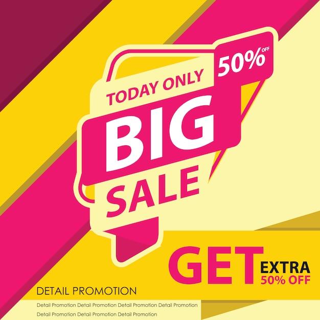 Bannière grande vente d Vecteur Premium