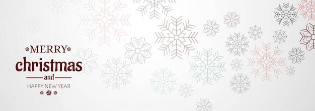 Bannière Horizontale Avec Carte De Noël Vecteur gratuit
