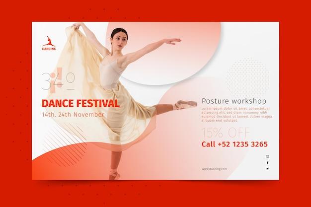 Bannière Horizontale De Danse Vecteur gratuit