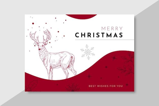 Bannière Horizontale Pour Noël Vecteur gratuit