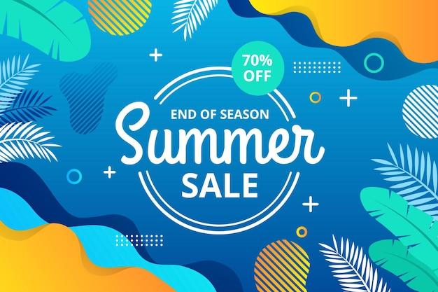 Bannière Horizontale Des Soldes D'été De Fin De Saison Vecteur Premium