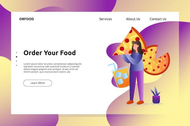 Bannière Italienne Pizza Food Et Illustration De La Page De Destination Vecteur Premium