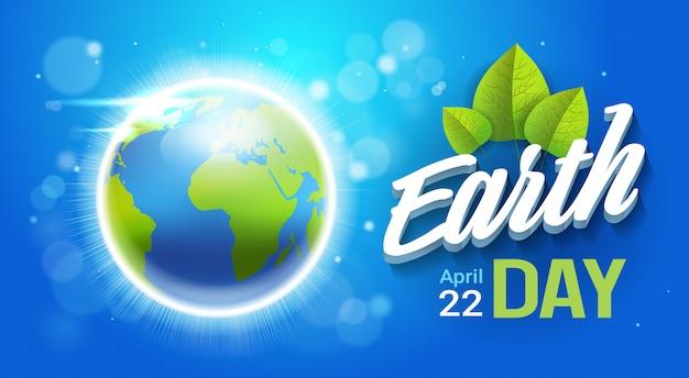 Bannière jour de la terre Vecteur Premium