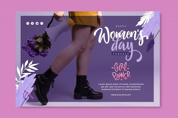 Bannière De La Journée Internationale De La Femme Vecteur gratuit