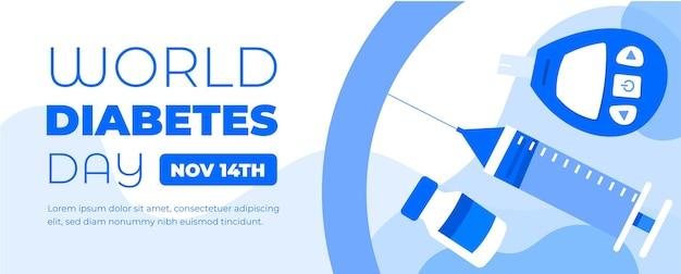 Bannière De La Journée Mondiale Du Diabète Le 14 Novembre Vecteur Premium