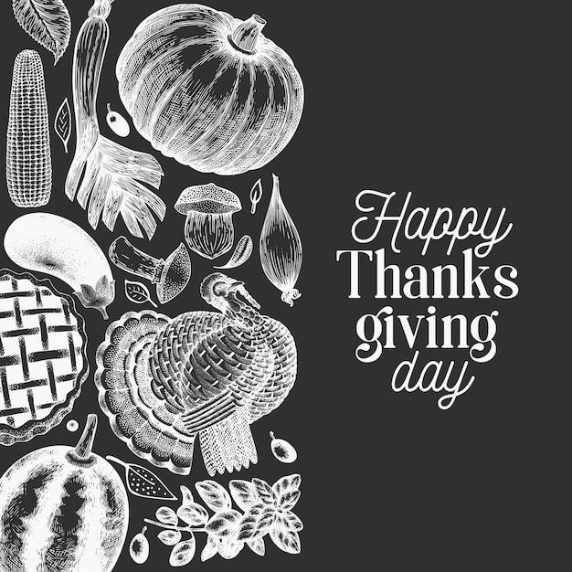 Bannière De Joyeux Thanksgiving Day. Vecteur Premium