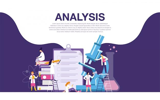 Bannière de laboratoire d'analyse Vecteur Premium