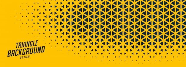Bannière Large Jaune Abstrait Avec Des Formes Triangulaires Vecteur gratuit