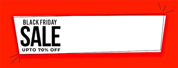 Bannière Large De Vente Vendredi Noir Avec Détails De L'offre Vecteur gratuit