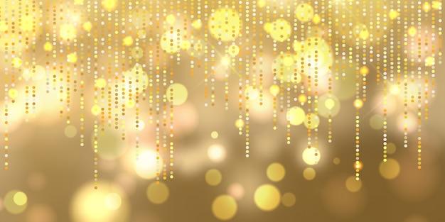 Bannière de lumières de noël bokeh Vecteur gratuit