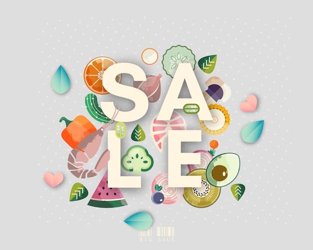 Bannière de magasin de vente Vecteur Premium