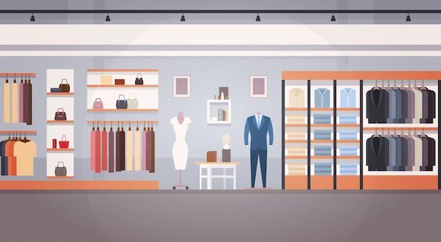 Bannière de magasin de vêtements d'intérieur de magasin de mode avec espace de copie Vecteur Premium
