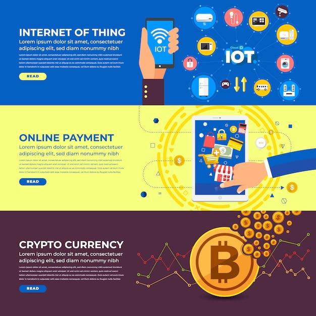 Bannière de marketing internet Vecteur Premium
