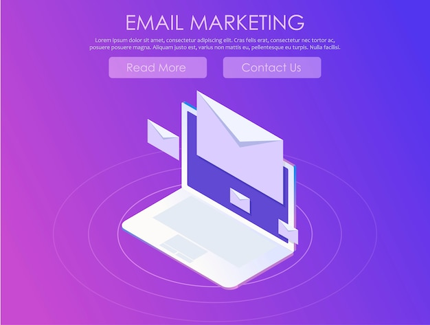 Bannière de marketing par courriel Vecteur gratuit
