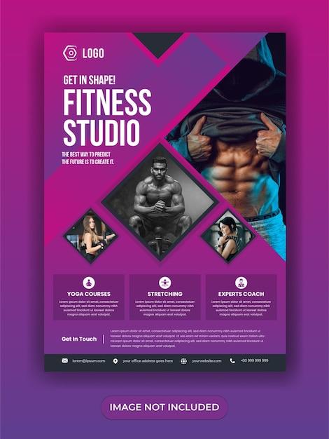 Bannière De Médias Sociaux Gym Fitness Vecteur Premium