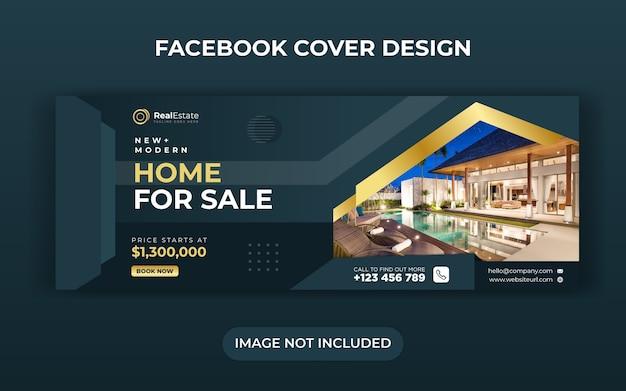 Bannière De Médias Sociaux Immobiliers Vecteur Premium