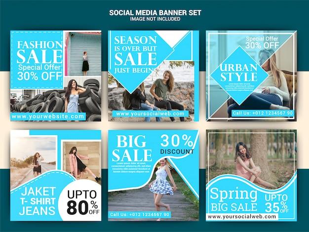 Bannière de médias sociaux de mode Vecteur Premium