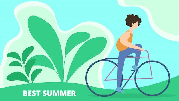 Bannière meilleur dessin animé des vacances d'été Vecteur Premium