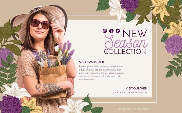 Bannière de mode promotion Vecteur gratuit