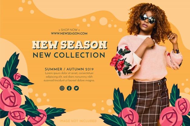 Bannière de mode de promotion Vecteur gratuit