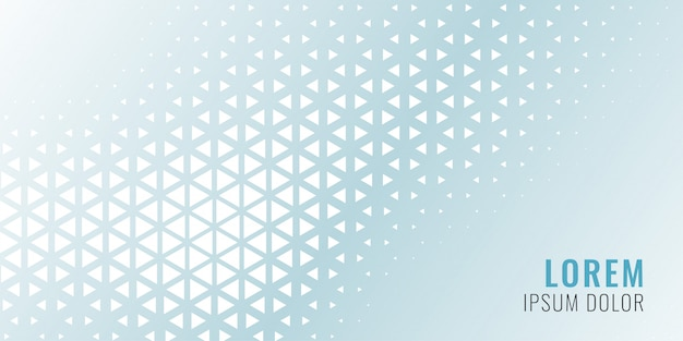 Bannière modèle abstrait triangle Vecteur gratuit