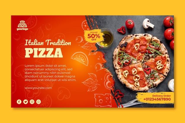 Bannière De Modèle De Cuisine Italienne Vecteur Premium