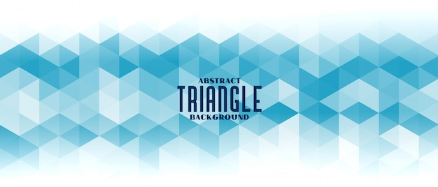 Bannière De Modèle De Grille Triangle Bleu Abstrait Vecteur gratuit