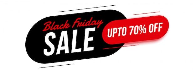 Bannière moderne de vente de vendredi noir avec les détails de l'offre Vecteur gratuit