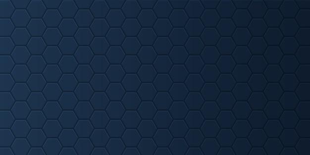 Bannière Avec Motif Hexagonal Vecteur gratuit