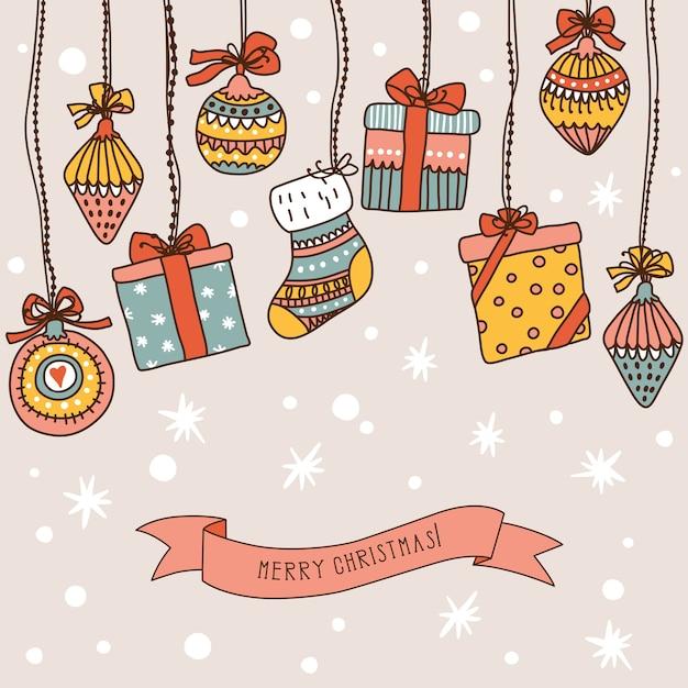 Bannière De Noël Avec Place Pour Votre Texte Vecteur Premium