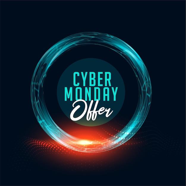 Bannière D'offre Cyber Monday Pour Les Achats En Ligne Vecteur gratuit