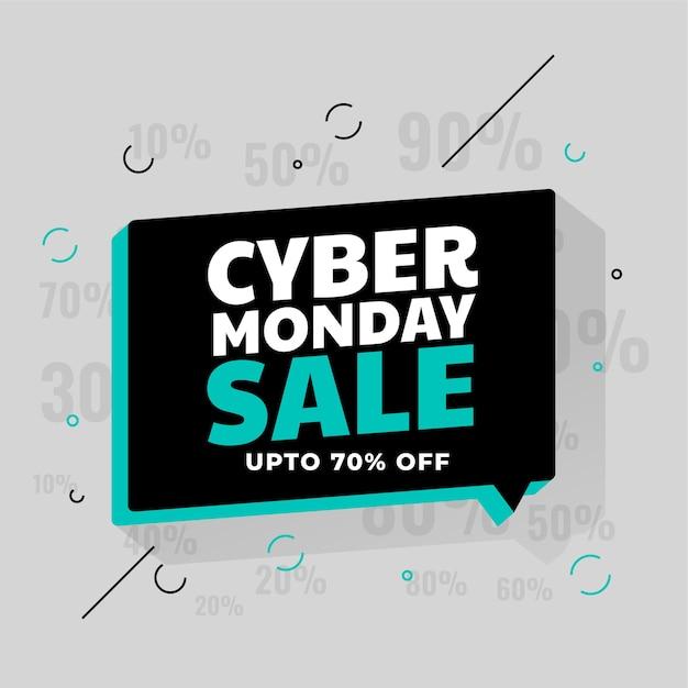 Bannière D'offre De Réduction Spéciale Cyber Monday Sale Vecteur gratuit