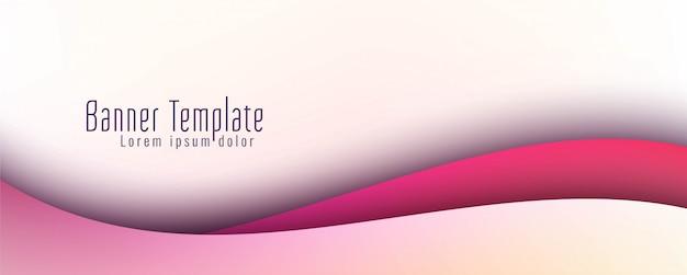Bannière Ondulée Abstraite Vecteur gratuit