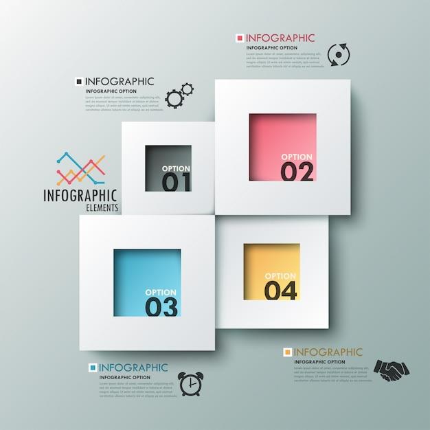 Bannière Option Infographie Moderne Vecteur Premium
