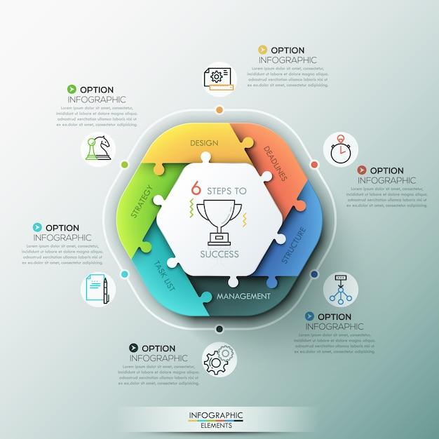 Bannière d'options infographie moderne. Vecteur Premium