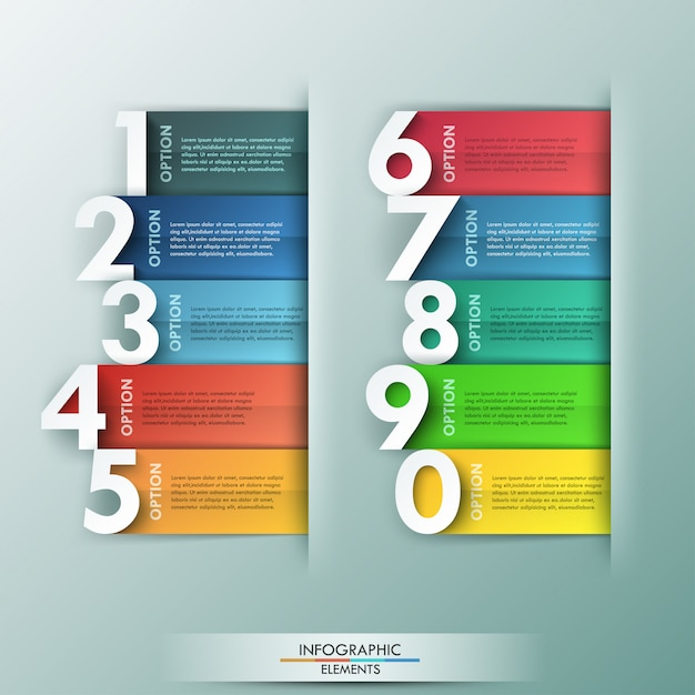 Bannière d'options d'infographie moderne Vecteur Premium