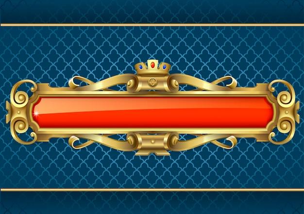 Bannière d'or classique Vecteur Premium