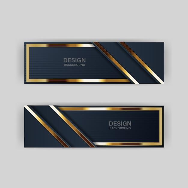 Bannière d'or luxe doré lumière couleur toile de fond Vecteur Premium