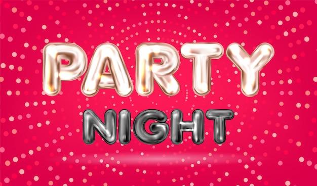 Bannière party night Vecteur Premium