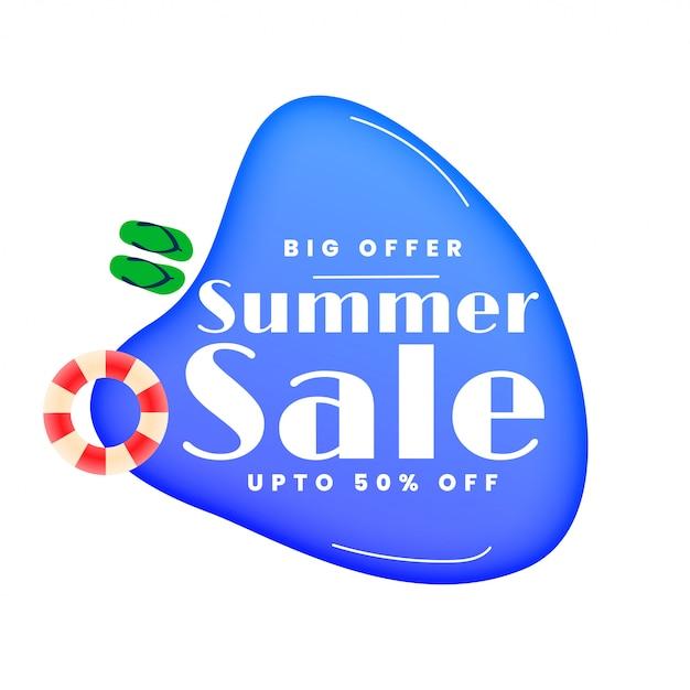 Bannière de piscine élégante vente d'été Vecteur gratuit