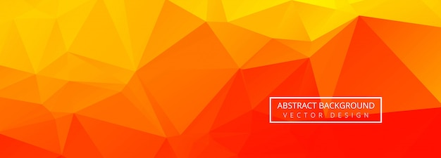 Bannière Polygonale Géométrique Abstraite Vecteur gratuit